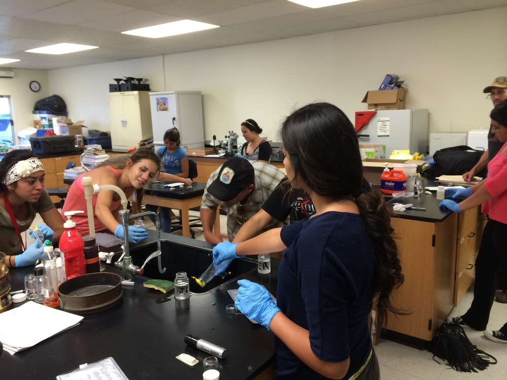 Santa Paula High School students analyzing water quality at our Laboratory located at California State University Channel islands