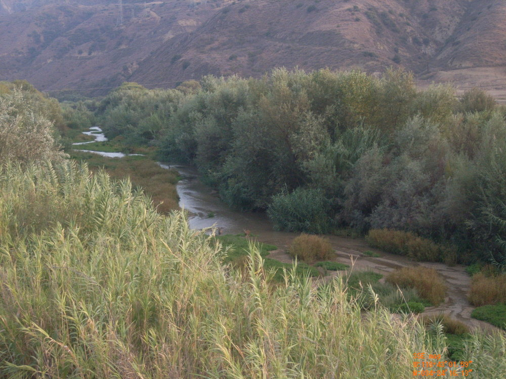 THE BEAUTIFUL MEANDERING AND UNDEVELOPED SANTA CLARA RIVER THAT WOULD BE DREDGED, FILLED, AND CONCRETED BY THE PROPOSED DEVELOPMENT OF OVER 20,000 HOMES.
