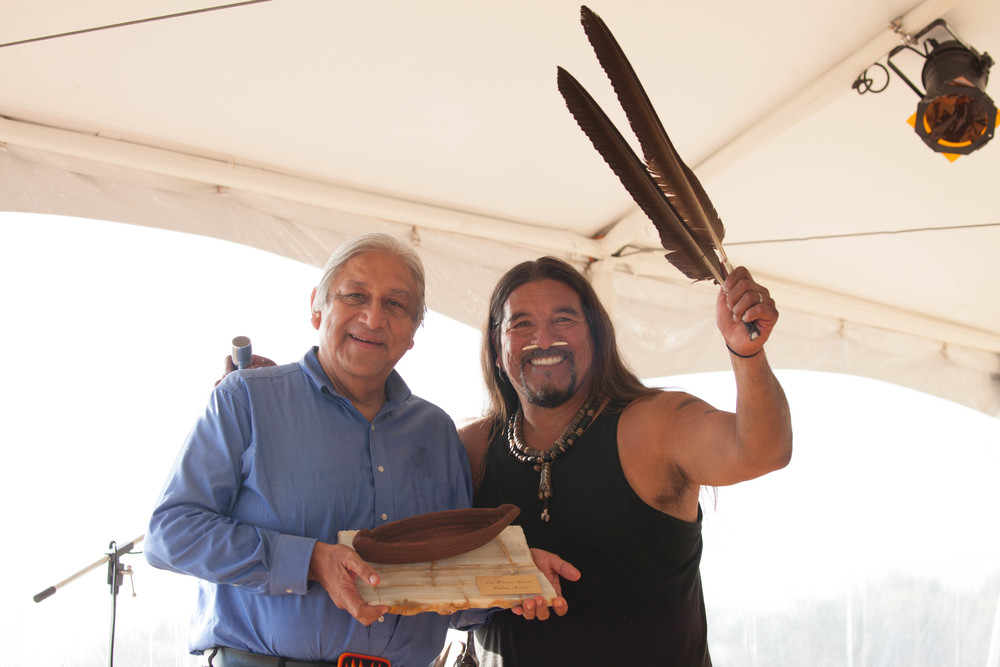 Andrew Masiel receives Wishtoyo's EcoWarrior Award