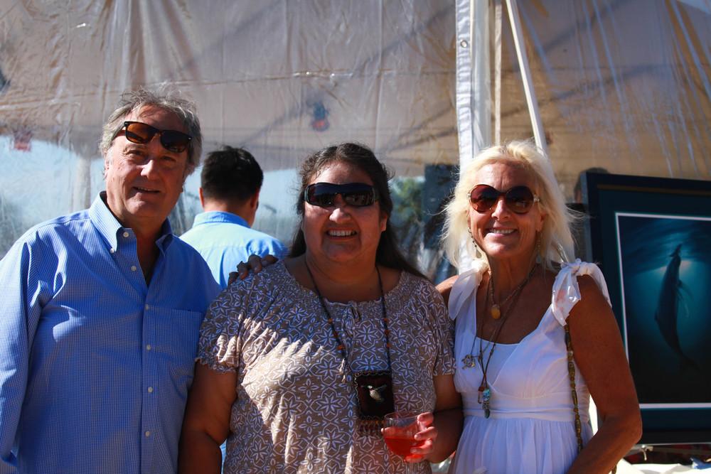 Brian Pietro, Nena Valenzuela and Jennifer Pietro.