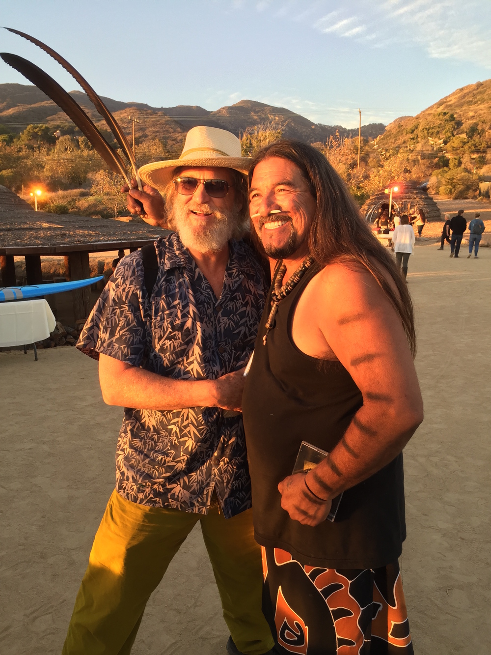 Jeff Bridges and Mati Waiya