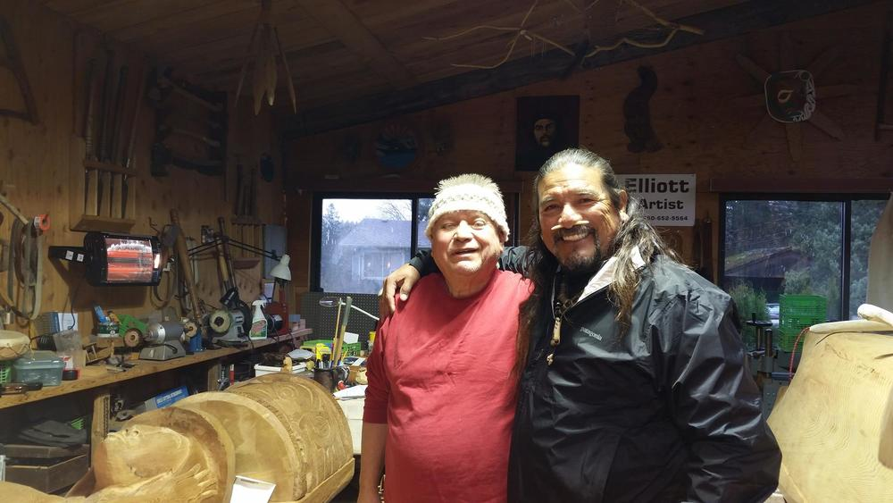 Coastal Salish Master Carver, Charles Elliot and Mati Waiya