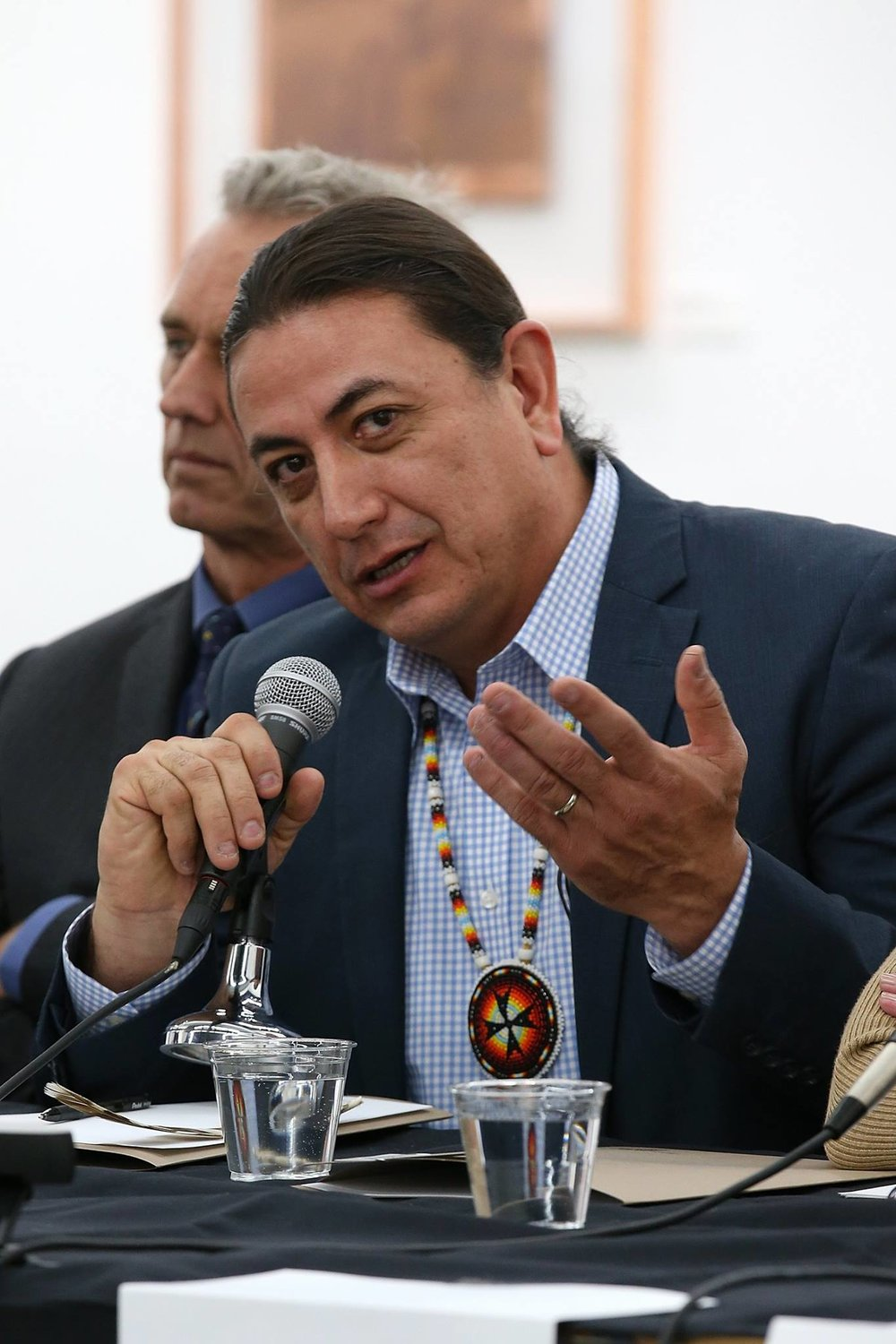 "Photo Credit: Depart Foundation On December 15, 2016, North Dakota's Standing Rock Sioux Chairman, Dave Archambault II, met with Los Angeles areas Native American Leaders, Elders and Native led nonprofits for a welcome ceremony and private meeting hosted by the Depart Foundation (https://www.facebook.com/depart.foundation/) in West Hollywood. The private meeting commenced with Mati Waiya (Wishtoyo Chumash Foundation Founder and Ceremonial Elder) placing a circle of tobacco with an abalone shell and sage bundles in the center of a circle to ground all participants in ceremony and a prayer given by Tongva Elder, Julia Bogany. All in attendance welcomed the Chairman with traditional and other gifts and words expressing solidarity and gratitude for the Standing Rock Sioux Tribe's leadership in providing the example of protesting in peace and prayer to protect their traditional land and water from the Dakota Access Pipeline in the face of a militarized police force. http://www.npr.org/sections/codeswitch/2016/11/22/502068751/the-standing-rock-resistance-is-unprecedented-it-s-also-centuries-old. A discussion regarding the fact that ""Standing Rock is Everywhere"" layed the groundwork to speak about  local ""standing rock"" issues and a comparission of different laws used to help protect Native American cultural resources, water, sacred sites, and treaty rights and the complexity of working with Federal Agencies. Chairman Archambault expressed that he was very grateful for the overwhelming support and would be happy to reciprocate support in local efforts. The two hour meeting ended with a prayer given by Tongva Elder, Gloria Arellanes. The Chairman went on to prepare for a first time public conversation in Los Angeles on a speakers panel with Robert Kennedy, Jr., Jane Fonda, Bruce Kapson, moderator Jon Christensen and special guest speaker, LaDonna Brave Bull Allard.The panel spoke to the current status of legal and on the ground efforts being made to stop the Dakota Access Pipeline from being completed and the fact that, even with, the December 5th announcement that the Army Corp of Engineers would not permit the Energy Transfer Partners to proceed with the Dakota Access Pipeline, the battle was not over. The Chairman had previously announced, ""I know this is a victory for this one DAPL battle, but we have not won the DAPL war. There will be more battles ahead and we will contine to strategize and win. The camp has brought us this far -- now it is time we pivot to the next phase of this struggle. That will be lead on different fronts like in court, with the new Administration, with Congress, and with investors."" (standingrock.org and sacredstonecamp.org).  The Chairman shared how unexpected it was that the ""camp"" would grow to include literally hundreds of Tribes, and thousands of people; Native and Non-Native Folks, Environmentalist, Celebrity Activists, Veterans, supporters from all over the world, young and old. This movement is a profoundly important example and reminder of, as LaDonna says, ""learning to live with the Earth again."" Chairman Archambault, shared, that he didn't want people to come here (the camp) to die. We want our young warriors to live. To be good fathers, parents.  Robert Kennedy, Jr. untangled the legal issues and put it into plain terms for all to understand. Jane Fonda strongly encouraged people to  divest from the financial institutions that are backing the DAPL project (defunddapl.org). She's currently organizing to do just that. For her Birthday on December 21st - the Day of the Winter Solstice Jane will remove her money from a LA area Wells Fargo Bank in efforts to encourage others to follow suit.  To Donate to the NODAPL effort directly to the Standing Rock Sioux Tribe Go To: http://standwithstandingrock.net/donate/ # defunddapl #StandingRockisEverywhere #DepartFoundation # wishtoyochumashfoundation #waterislife  #Tongva #Tataviam #Chumash #acjachemen #Lanativeamericancommission #sacredplacesinstitute #anauacalmecac #metabolicstudio #vck #ccka #wka #LDF #SGA   Special Thanks to the generous host  Depart Foundation and the Tongva Elders of Los Angeles for opening and closing these two events with prayer."