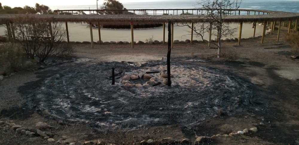 The ash circle of a burned down Chumash 'ap (house)  All Photo Credits: Kote Melendez