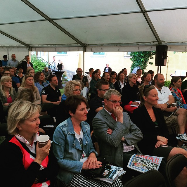 Full house at our seminar this morning on values-driven leadership in a transparent world. #almedalen #valuesdriven #companyculture #leadership