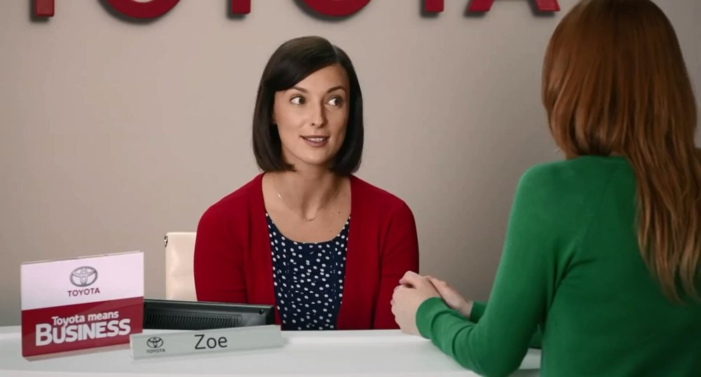 TELEVISION | From a nationwide search, Lydia Sarks is announced as the actress who will play Zoe; the friendly dealership concierge and the new national face of Toyota Australia.  Toyota Australia | May, 2013