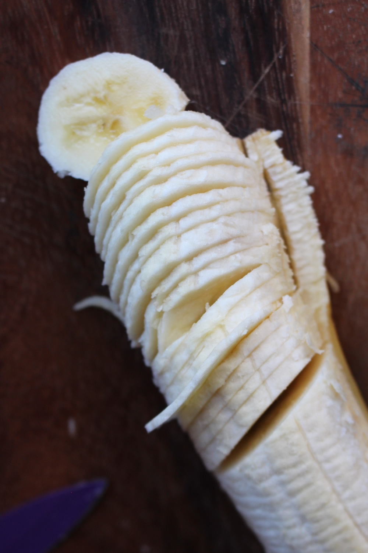 finely sliced banana