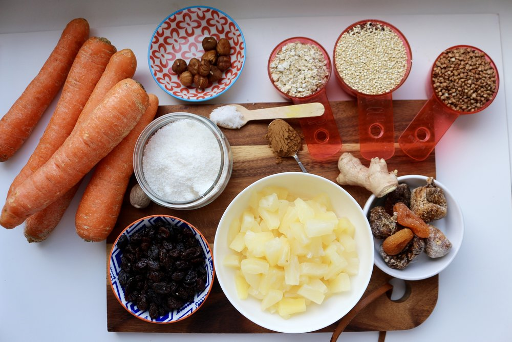 ingredients carrot cake
