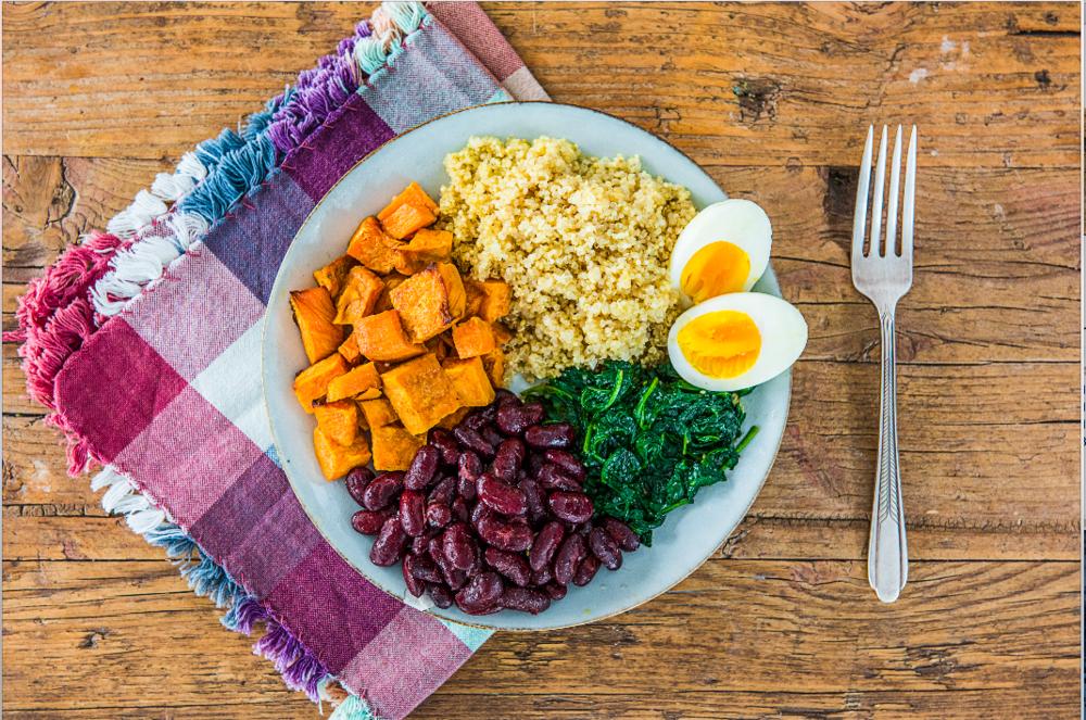 Superfood Bowl mit Ei & Spinat