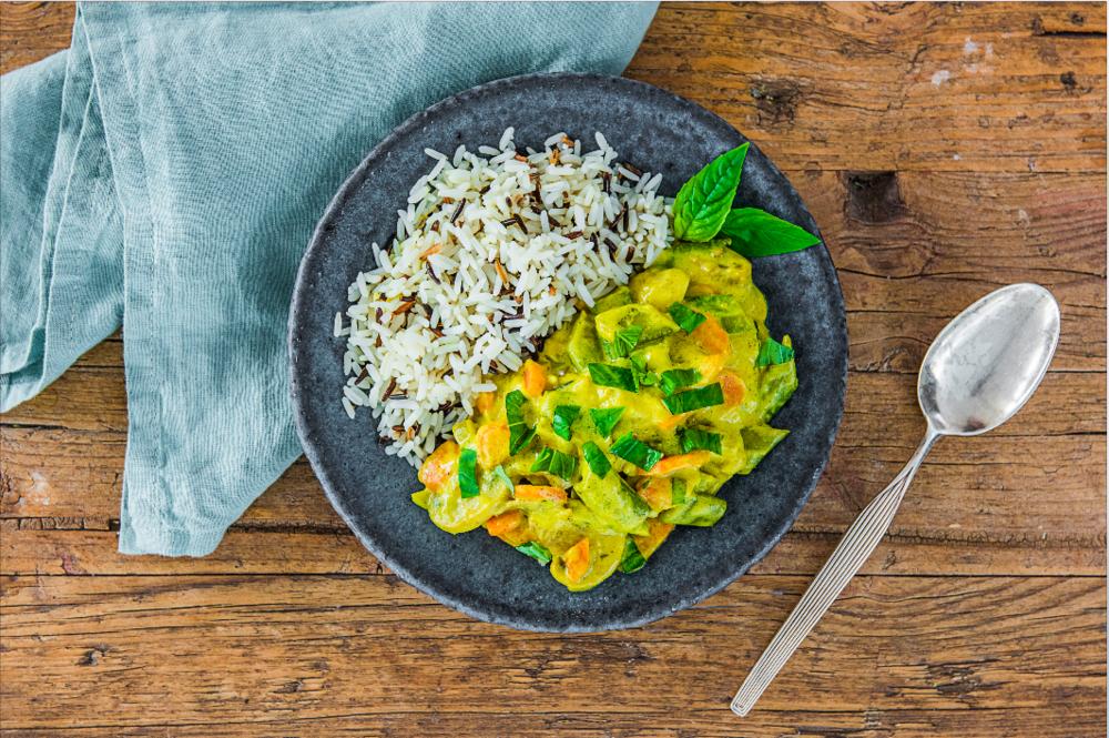 Gelbes Thai Curry mit Wildreis