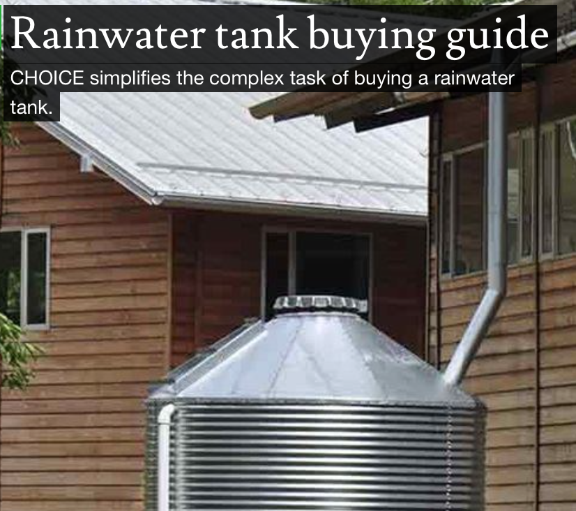Choice water tank guide