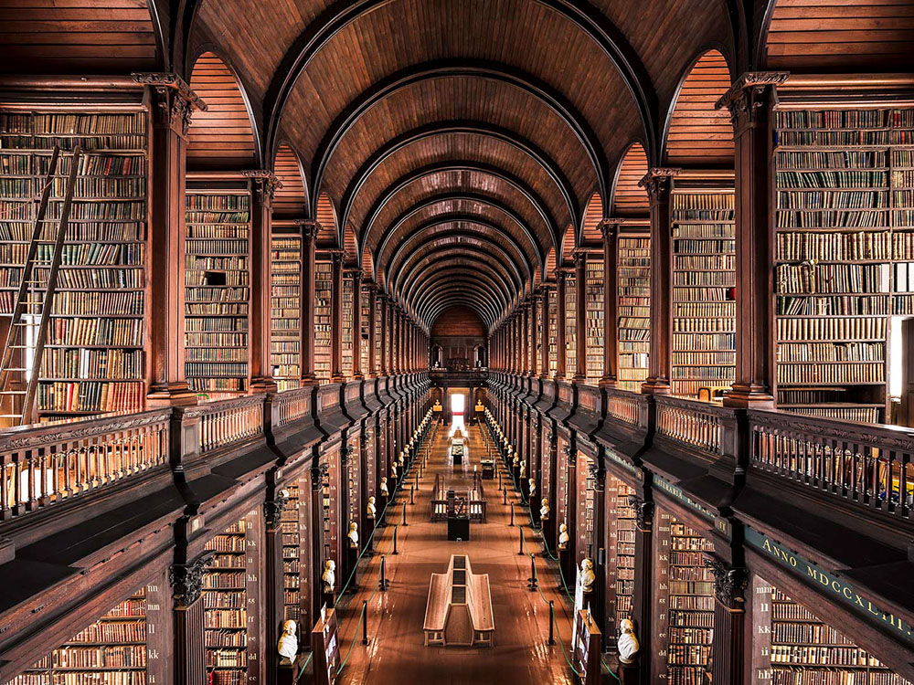 Our library won't be quite this grand ...