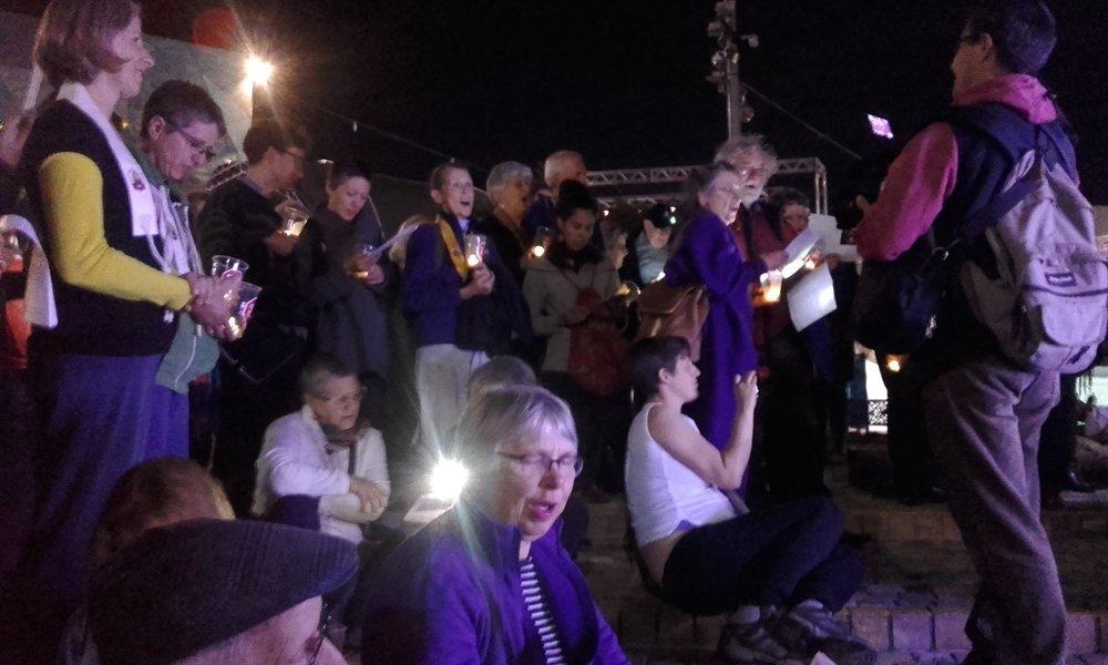 Singing at the vigil