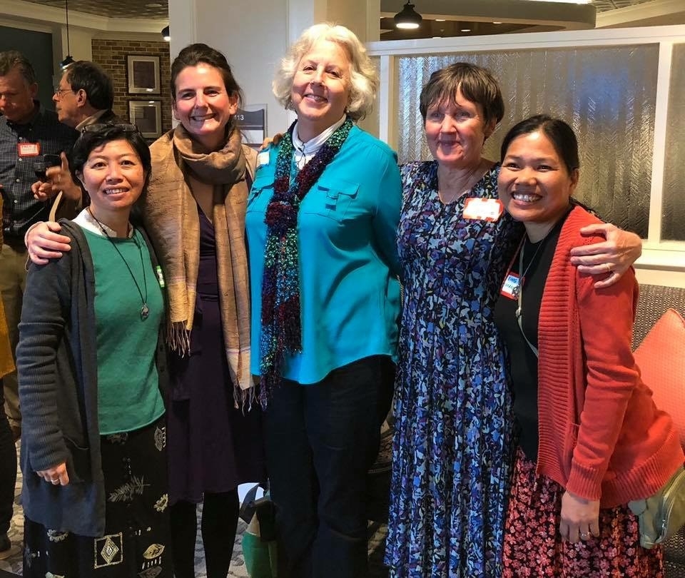 Sally with the Sisters of Green Mountain Monastery and Anne Berry[1].jpg