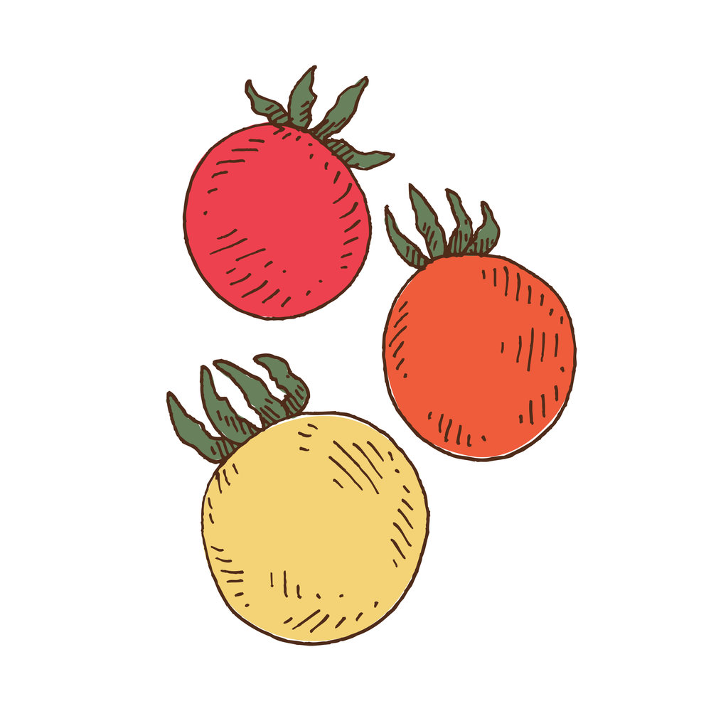 Tomatoes (three cherries)