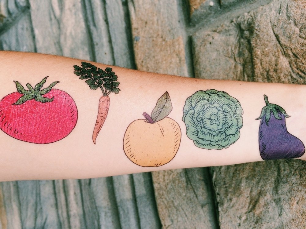 PARLOR - Customize your own pop up veggie Tattoo Parlor. Customize your amount and typeof tattoos, anything from 50-5,000.