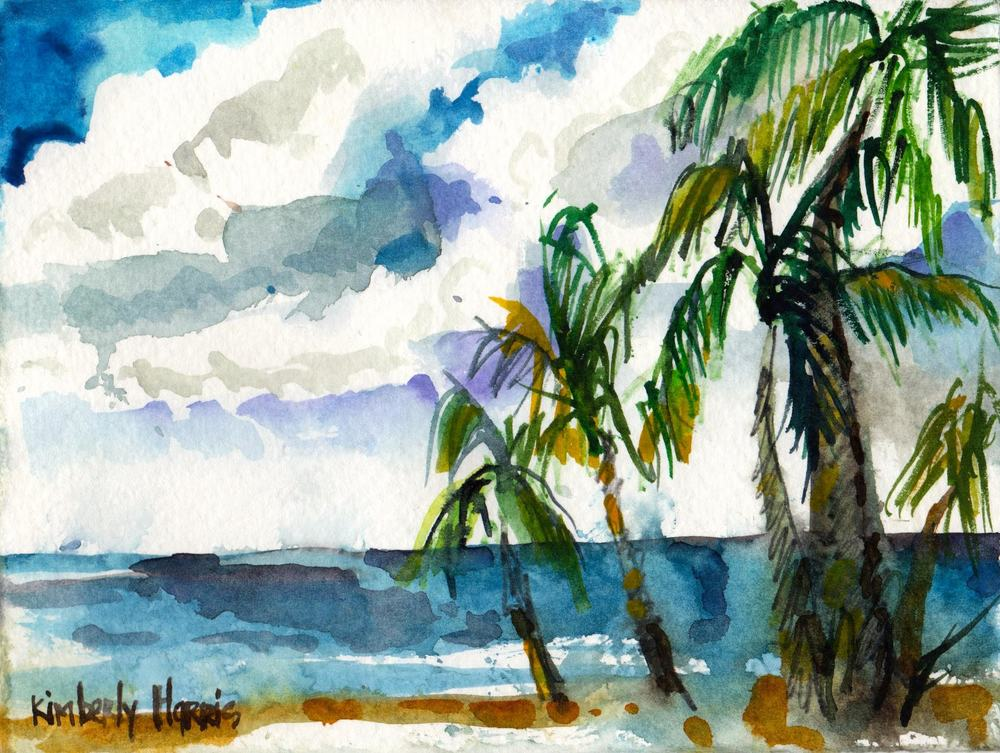 Artwork of Havana, Cuba by PVCC Study Abroad Student Kimberly Harris.