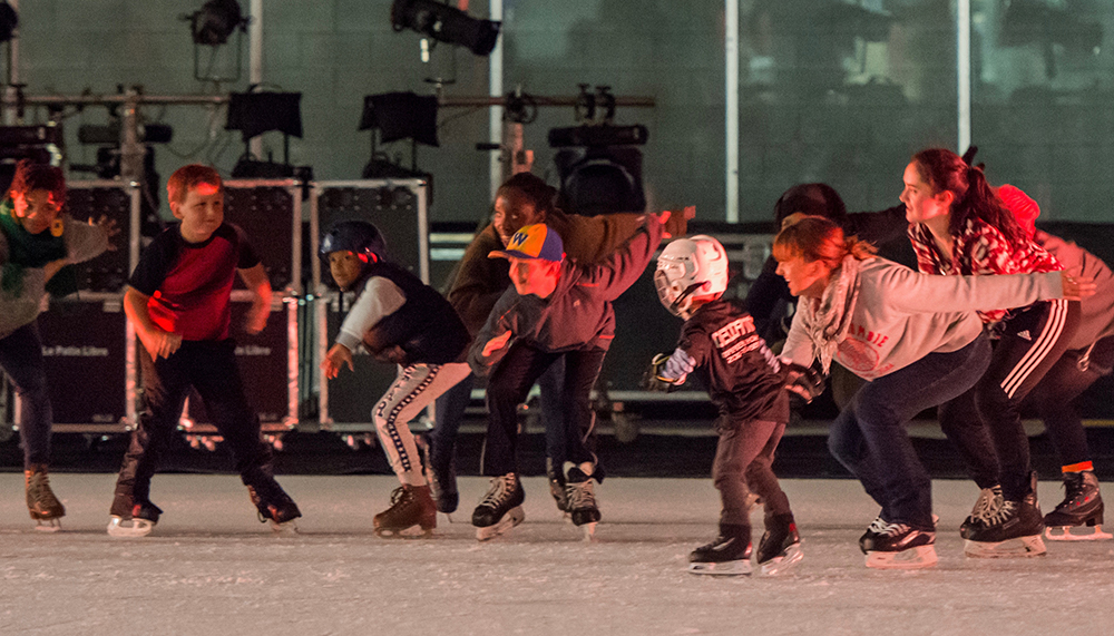 Open skate party with Le Patin Libre, Photo by Sally Cohn