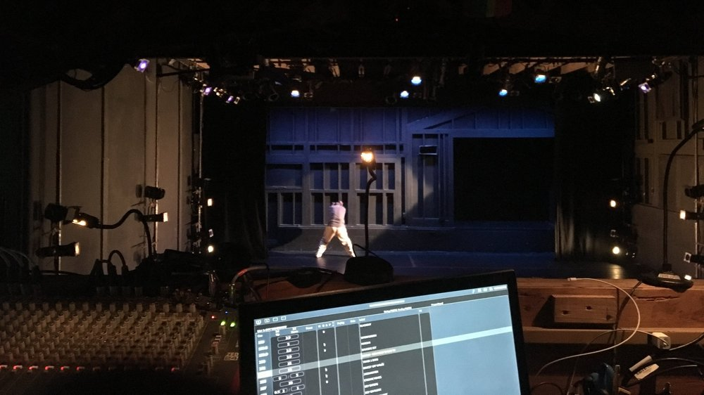View from the tech booth at the yard's nanon theater. photo by harrison burke
