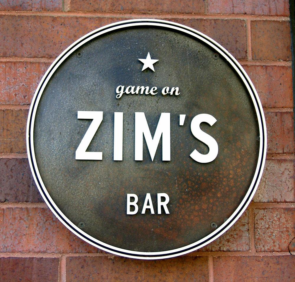 Zim's Bar sign