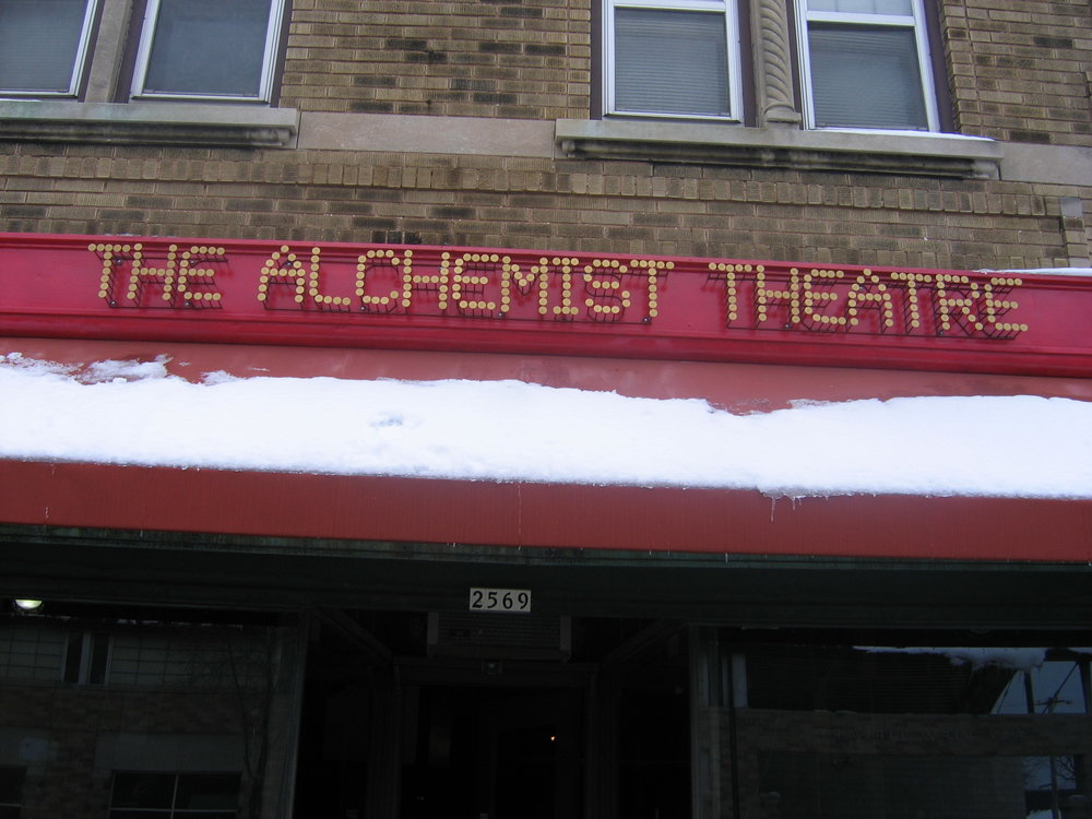 Alchemist Theater Sign