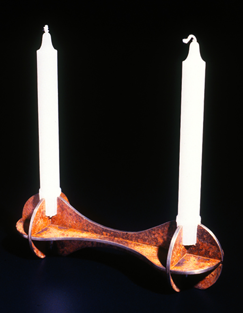 Barbell Candle Holder