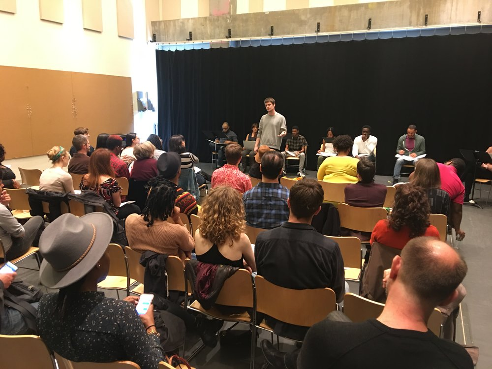 Producer Douglas Ross (DVRF) introduces the Playwrights Program