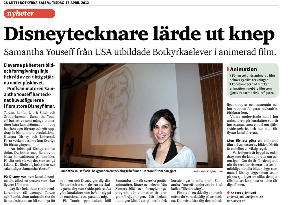 Newspaper article, Stockholm, Sweden