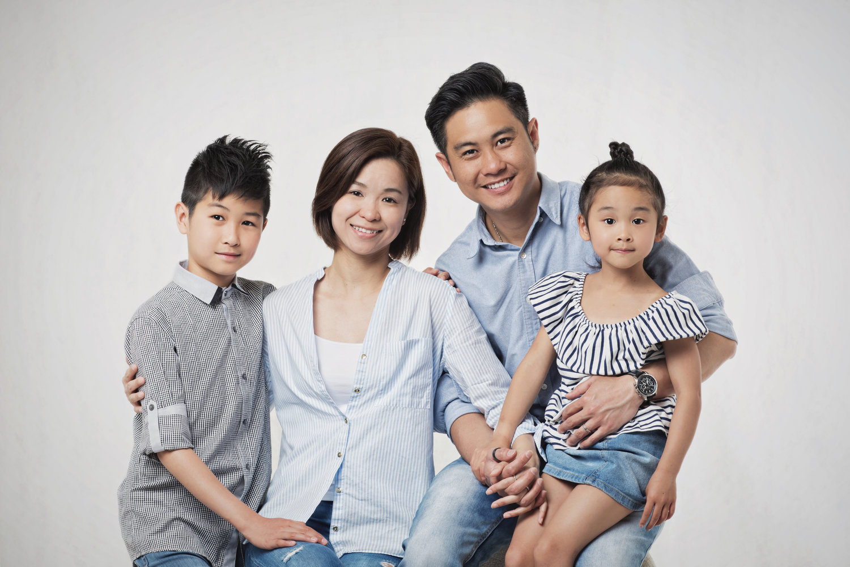 family studio portrait arch vow studio