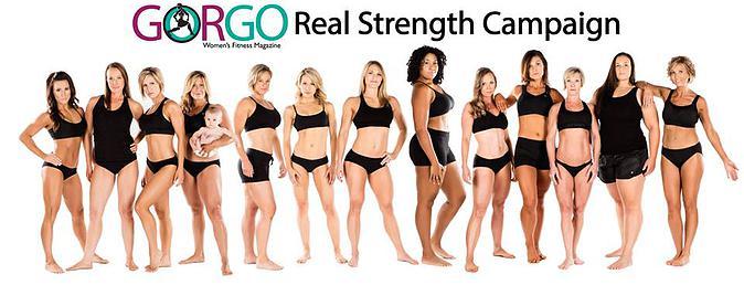 Bilde av ulike veltrente jenterfraWomens Fitness Magazine kampanje