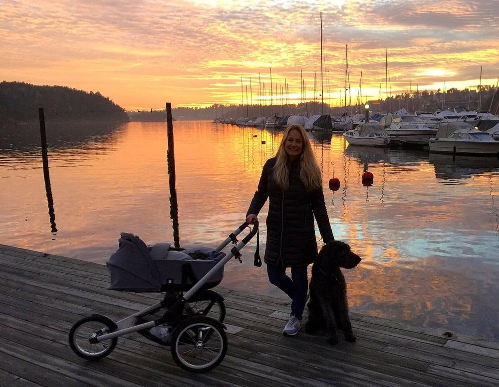 Deilig tur i nydelig solnedgang