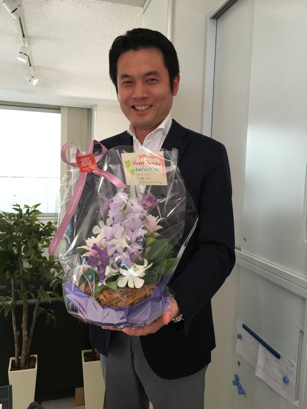 宮川さんの誕生日お祝い