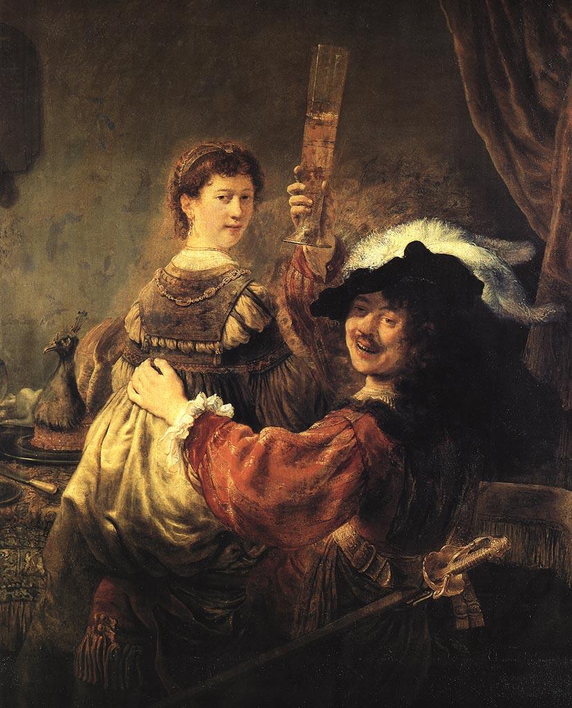 REMBRANDT AND SASKIA, 1635