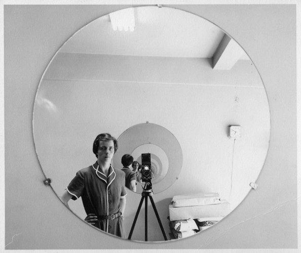 Vivian Maier   -  SELF-PORTRAIT, 1955.