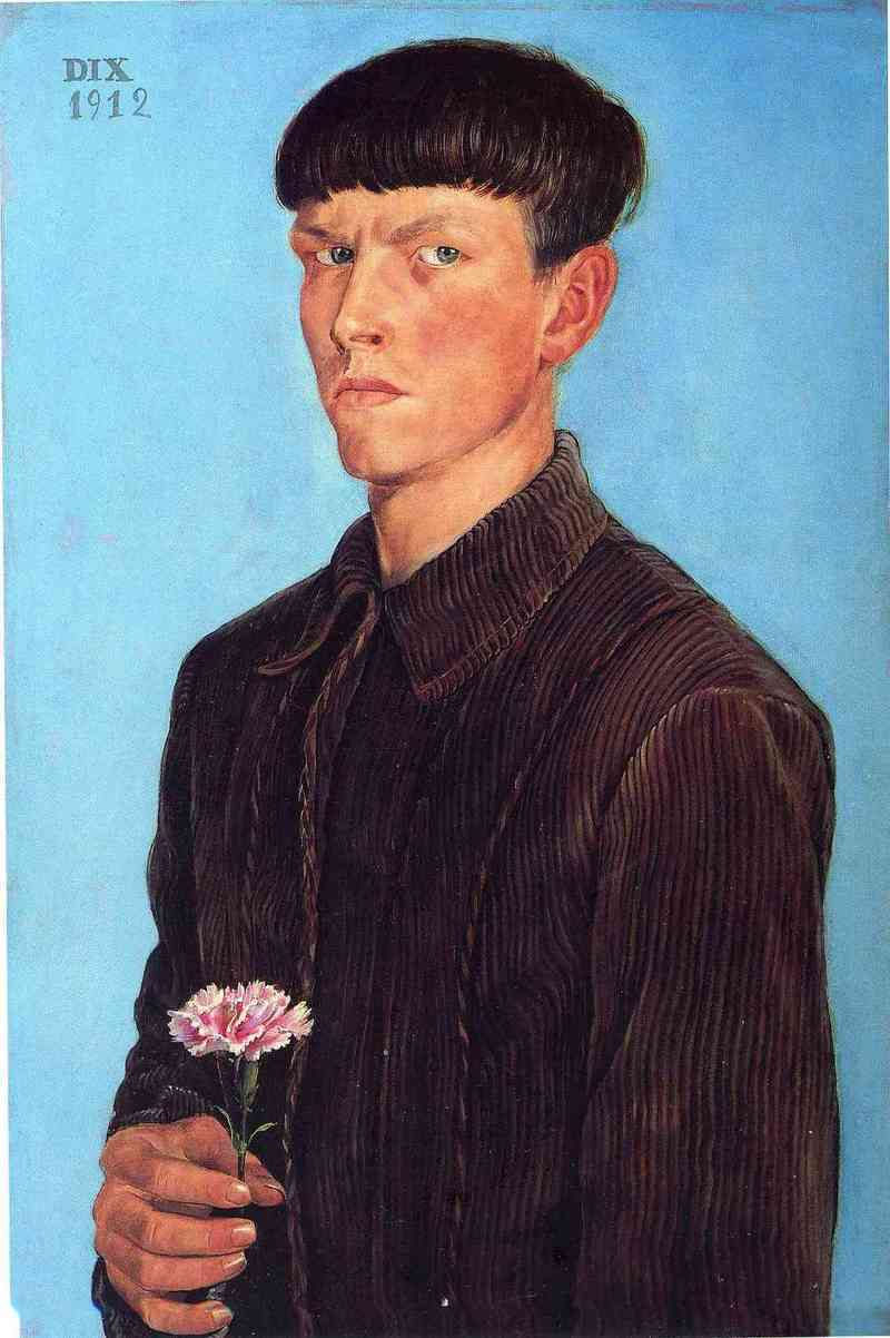 OTTO DIX -  SELF-PORTRAIT, 1912.