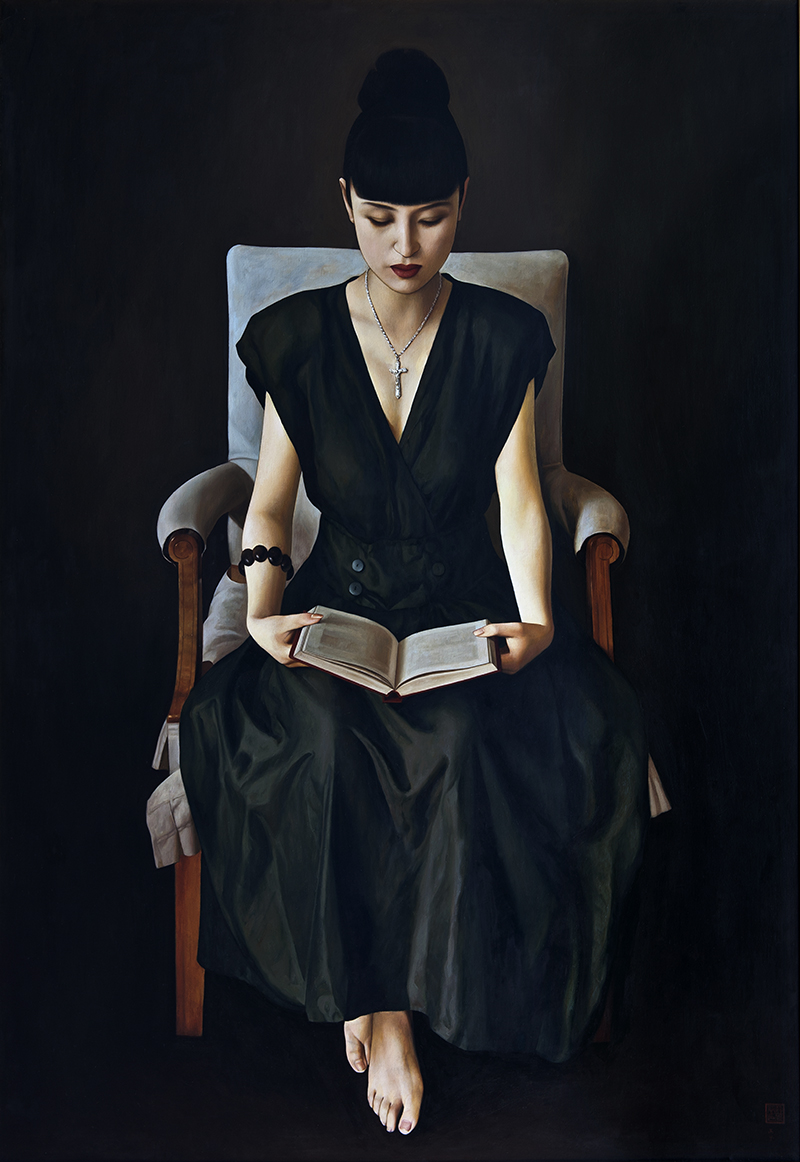 XUE YANQUN  -  'The Lady in The Chair',   162x112cm,Oil on Canvas