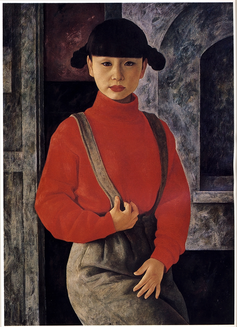 XUE YANQUN  -  'The Northern Chinese Girl',  100 x 72.5 cm, Oil on Canvas