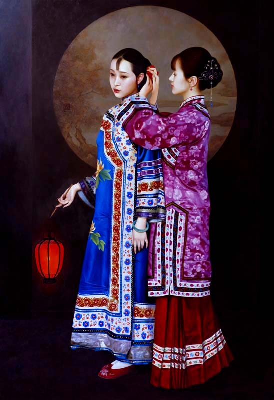XUE YANQUN - 'The Lantern No2',   130 x 97cm, Oil on Canvas