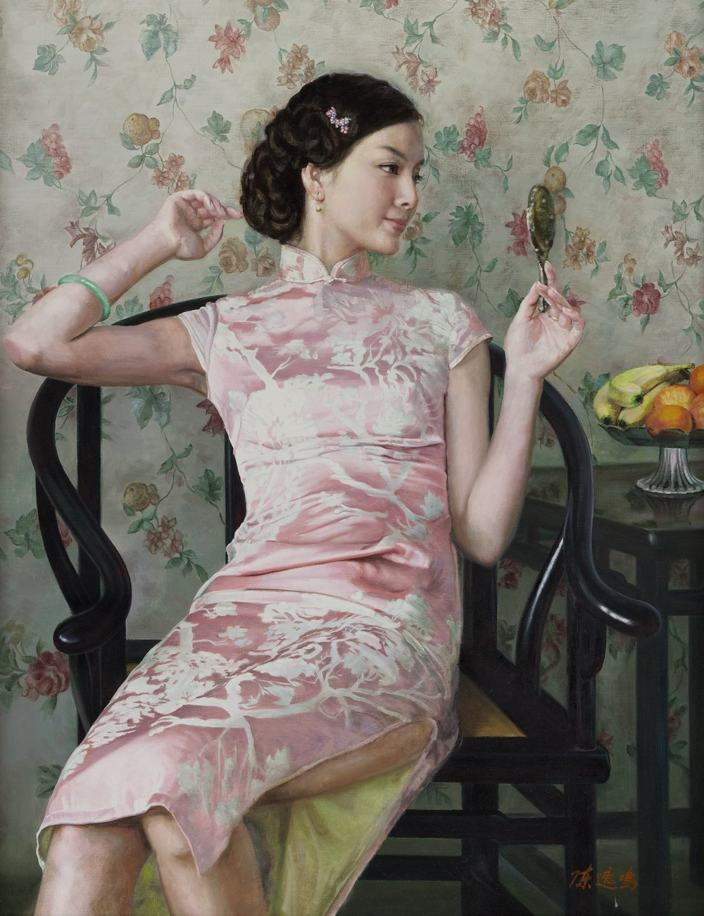 CHEN YIMING, 'Bronze Mirror',   oil on canvas, 2011