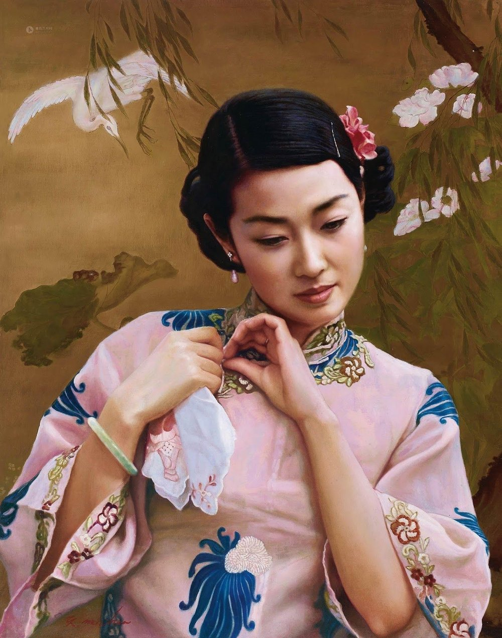 """CHEN YIMING, """"Dress Up',   oil on canvas"""