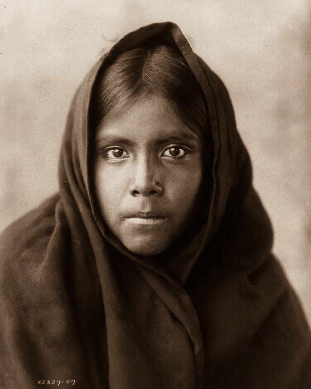 A Qahatika girl, 1910.    ©EDWARD S. CURTIS/LIBRARY OF CONGRESS