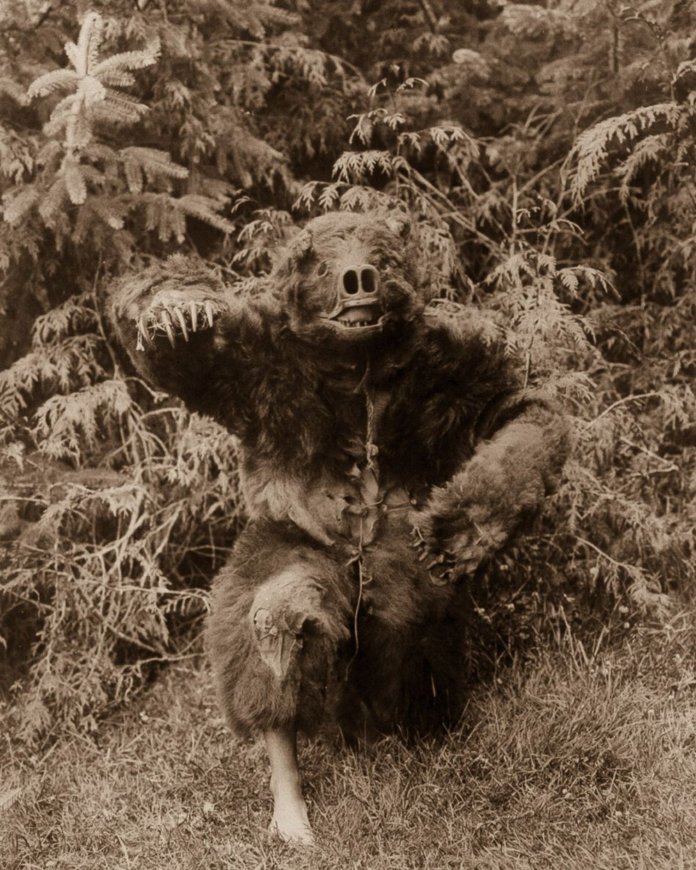 A Qagyuhl man dressed as a bear,  1914.  ©EDWARD S. CURTIS/LIBRARY OF CONGRESS