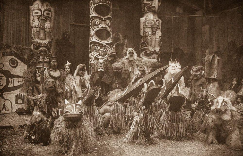 Qagyuhl dancers,  1914.  ©EDWARD S. CURTIS/SMITHSONIAN INSTITUTION