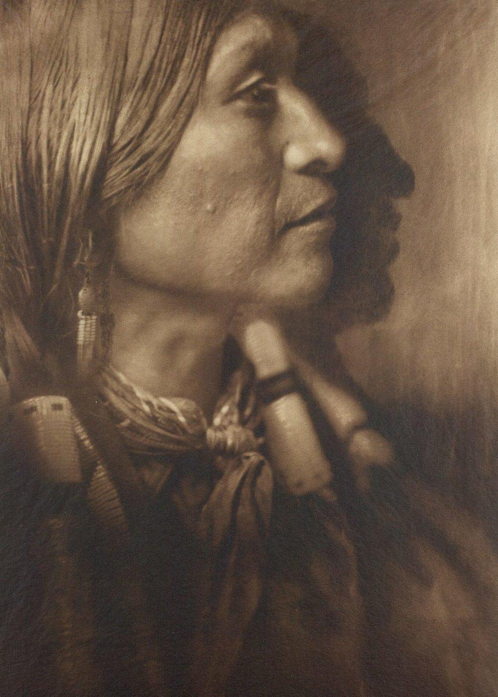 Vash Gon, a Jicarrilla man,  c 1910.  ©EDWARD S. CURTIS/SMITHSONIAN INSTITUTE