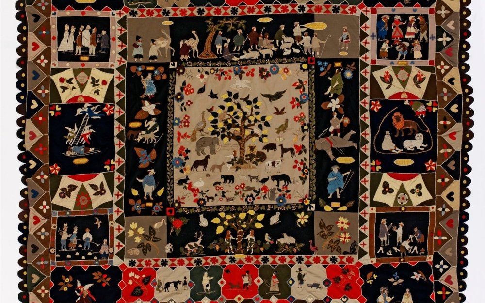 Patchwork, Ann West, 1820, England. Museum no. T.23-2007. © Victoria and Albert Museum, London