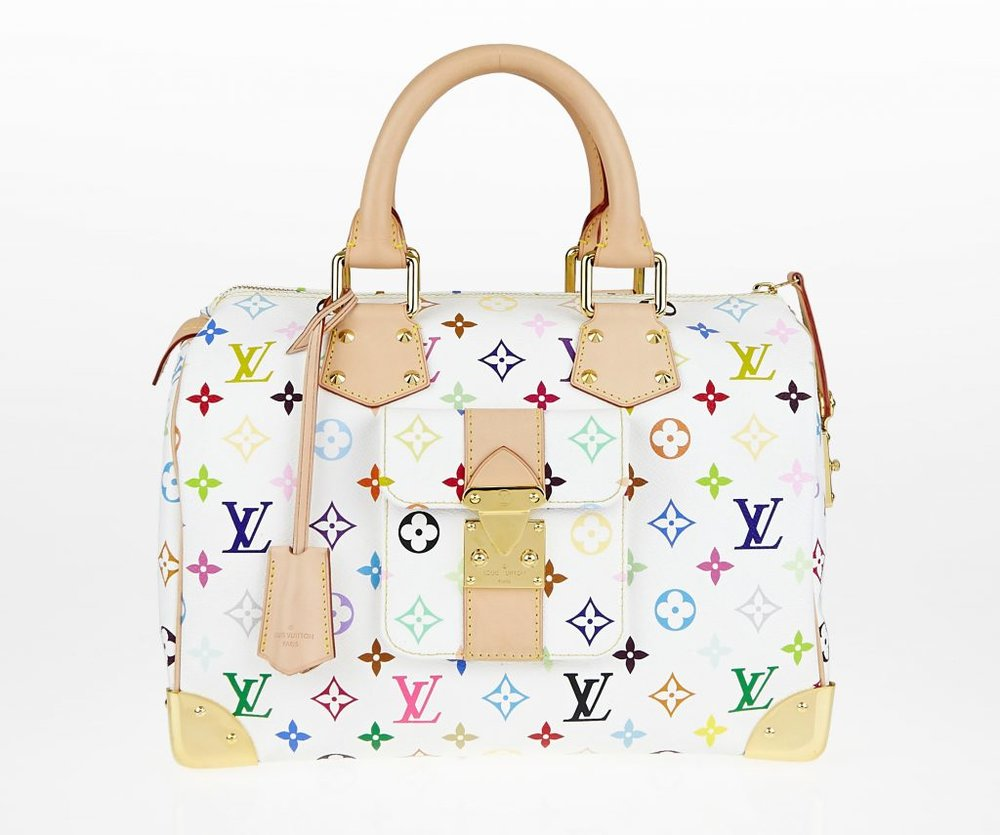 Monogram Multicolore Speedy City Bag by Takashi Murakami for Louis Vuitton    ©Louis Vuitton