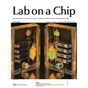 Our work on capillarics featured on the cover of Lab on a Chip.