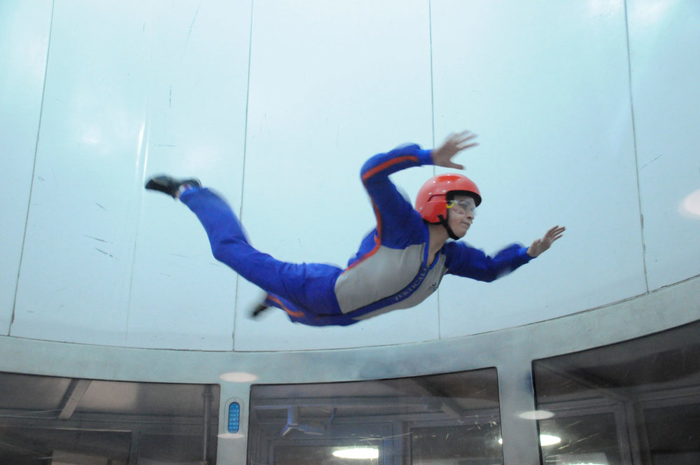 Indoor Skydiving at the Christmas Party 2011