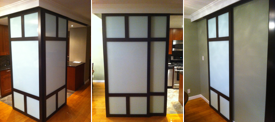 sliding door installation 2