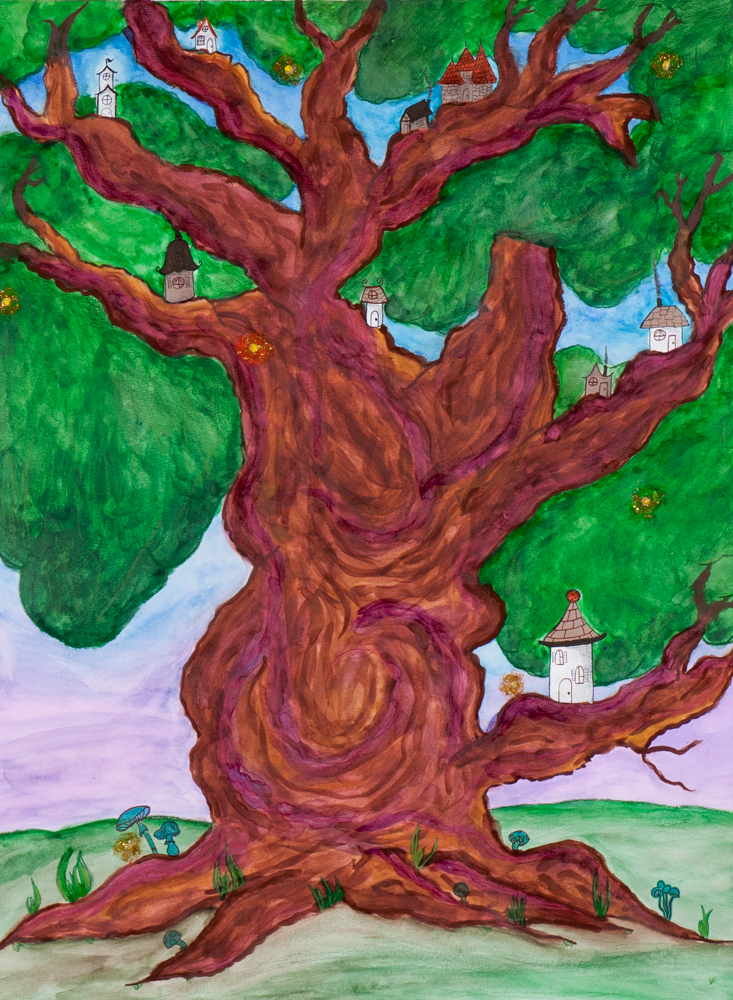 Fairy Tree   water color on paper 24in. x 18in